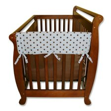 "2 Pack of Max Dot 27"" Side Crib Rail Covers"