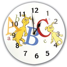 "<strong>Trend Lab</strong> Dr Seuss ABC 11"" Wall Clock"