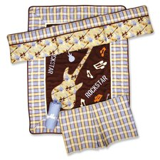 Rockstar 4 Piece Crib Bedding Set