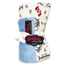 Dr. Seuss Cat in the Hat Receiving Blanket in Blue