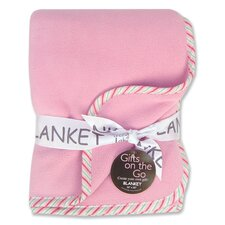 Tulip Pink Fleece Receiving Blanket