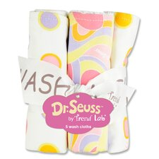 <strong>Trend Lab</strong> Dr. Seuss Oh The Places You''ll Go Bouquet 5 Pack Wash Cloth