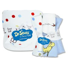 <strong>Trend Lab</strong> Dr. Seuss Bouquet Hooded Towel and Wash Cloth Set