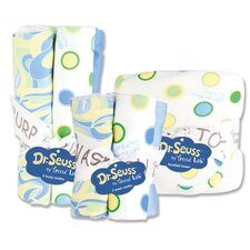 Dr. Seuss Oh The Places You''ll Go 10 Piece Hooded Towel, Wash and Burp Cloth Bouquet Set