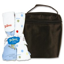 Dr. Seuss Oh The Places You''ll Go Bouquet Bottle Bag and Burp Cloth Set