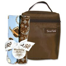 Cowboy Bouquet Bottle Bag and Burp Cloth Set