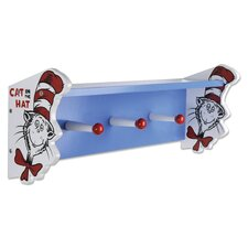 Dr. Seuss Cat in The Hat Shelf with Pegs