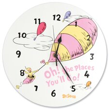 Dr. Seuss Oh The Places You''ll Go Pink Wall Clock