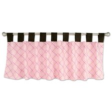 Rock Angel Cotton Tab Top Tailored Curtain Valance