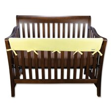 Long Fleece Crib Wrap Wide Rail Cover in Yellow