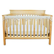 <strong>Trend Lab</strong> Long Fleece Crib Wrap Narrow Rail Cover in Natural