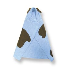 Terry Velour Blue Puppy Hooded Towel