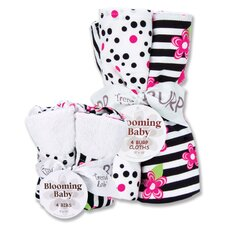 Zahara Bib and Burp Cloth Bouquet Set
