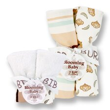 <strong>Trend Lab</strong> Morgan The Monkey Bib and Burp Cloth Bouquet Set