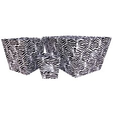 <strong>Trend Lab</strong> Zebra 3 Piece Set Torage Bin In Black and White