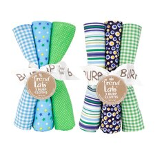 6 Piece Apple Berry Burp Cloth Set