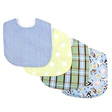 <strong>Trend Lab</strong> Baby Barnyard Bouquet Bib (Set of 4)
