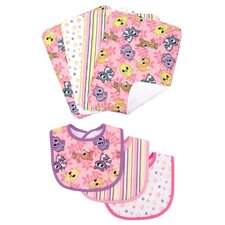 <strong>Trend Lab</strong> Lola Fox Bouquet  Bib and Burp Cloth Set