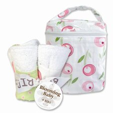 <strong>Trend Lab</strong> Tulip Bottle Bag and Bib Set