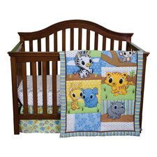 <strong>Trend Lab</strong> Riley Tiger and Friends 3 Piece Crib Bedding Set