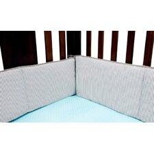 Cocoa Mint 4 Piece Crib Bumper Set