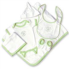 "Good Fortune Six Piece ""Cute as a Button"" Newborn Gift Set"
