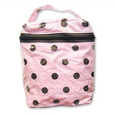 Insulated Bottle Bag in Maya Polka Dot Pink