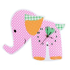 <strong>Trend Lab</strong> Sherbet Elephant Wall Clock