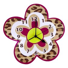 <strong>Trend Lab</strong> Berry Leopard Wall Clock