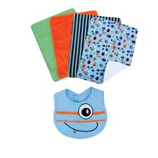 <strong>Trend Lab</strong> Snuggle Monster Bouquet Set with Bibs and Burp Cloths