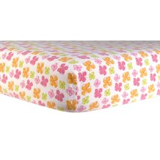 Floral Print Flannel Crib Sheet