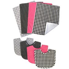 Serena 8 Piece Bib and Burp Cloth