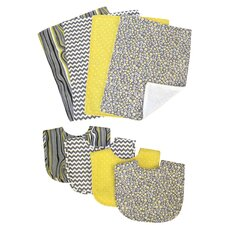 Hello Sunshine 8 Piece Bib and Burp Cloth