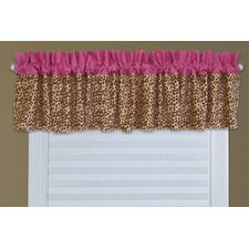 "Berry Leopard 82"" Curtain Valance"