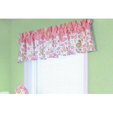 Paisley Park Rod Pocket Ruffled Curtain Valance