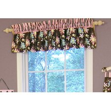 Blossoms Rod Pocket Ruffled Curtain Valance