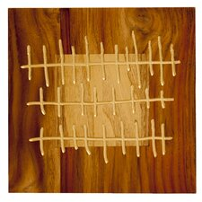 Pura Vida I Shock Wave Graphic Art Plaque in Natural