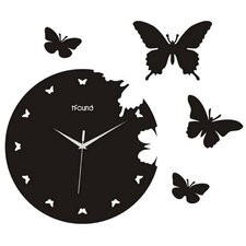 "14.17"" Butterfly Wall Clock"