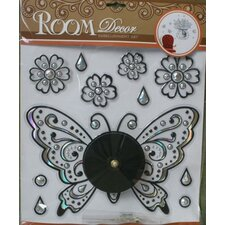 "Do It Yourself 12"" Butterfly Clock"