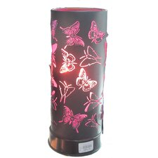"Aroma Butterfly 11"" H Table Lamp with Drum Shade"