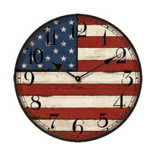 "13.3"" American Flag Wall Clock"