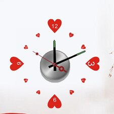 "Do It Yourself 12.99"" Heart Wall Clock"