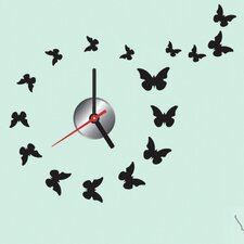 "Do It Yourself 12.59"" Butterfly Wall Clock"