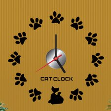 "Do It Yourself 12.59"" Paw Wall Clock"