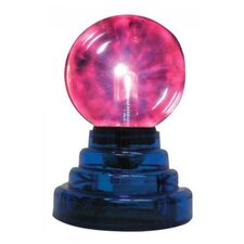 "Mini Plasma Ball 7"" H Table Lamp with Round Shade"