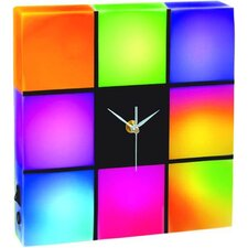 Color Changing LED Panel Table with Clock