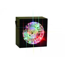 <strong>Creative Motion</strong> Square Rotating Mirror Ball Light Table Lamp