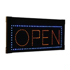 Hanging Rectangular LED Open Sign