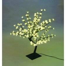 <strong>Creative Motion</strong> Desktop Cherry Blossom Tree Table Lamp with 64 Piece LED Lights