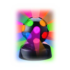 "Rotating Disco Ball Light 6.5"" H Table Lamp"
